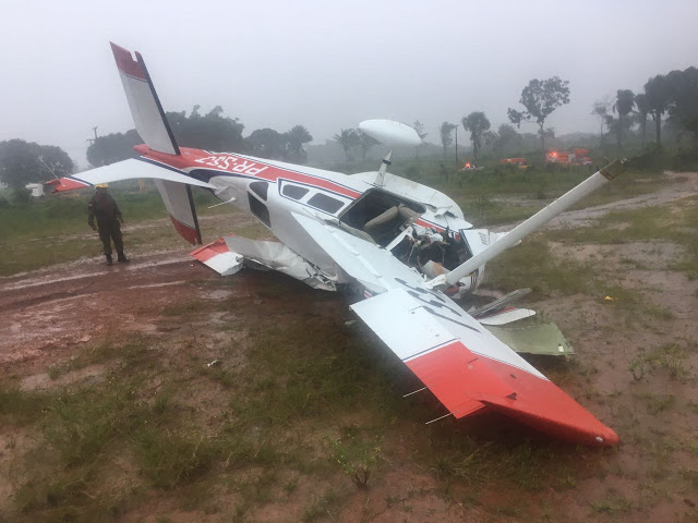 Foto de Avião cai em Itaituba, mas não houve vitimas fatais