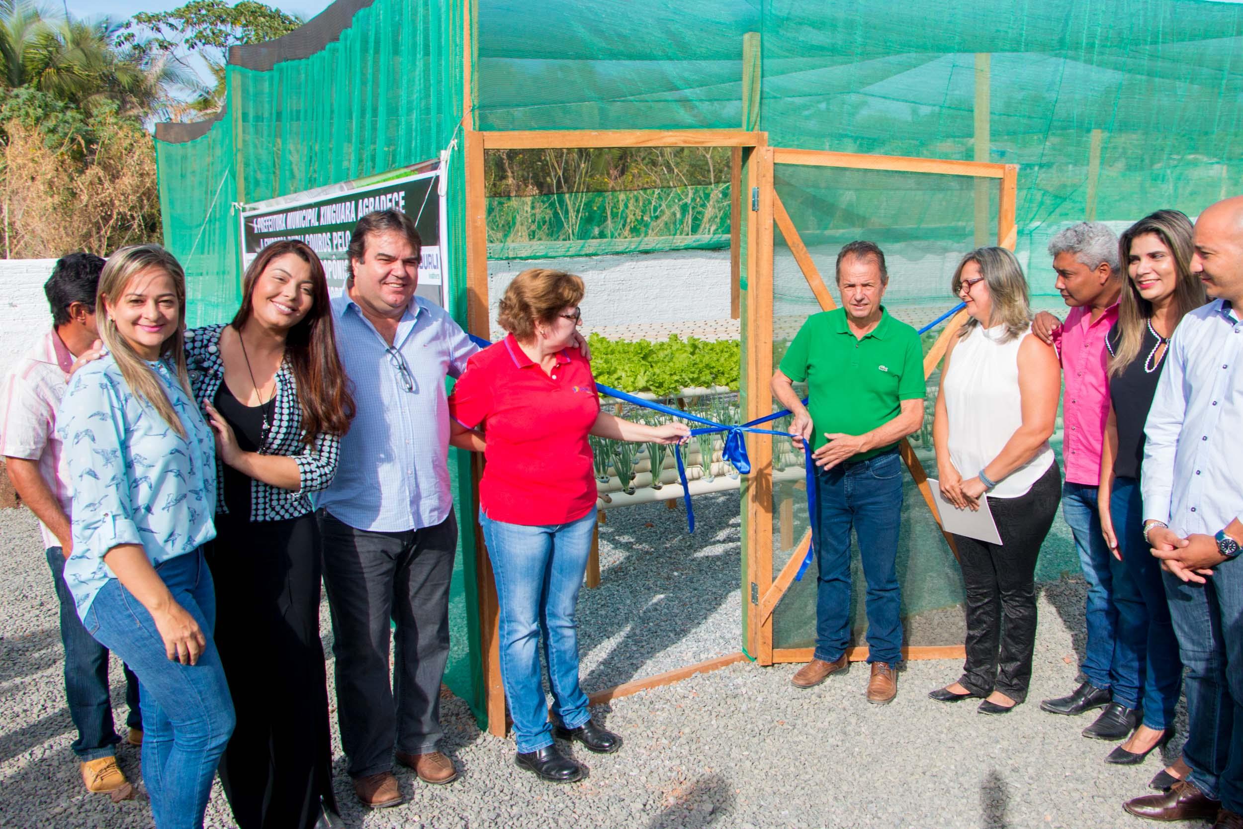 Foto de Prefeito Osvaldinho Assunção inaugura horta hidropônica no Hospital Municipal de Xinguara