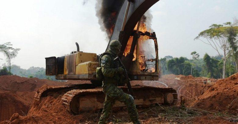 Foto de Após protestos IBAMA divulga resultado de operação nos garimpos do sul do Pará