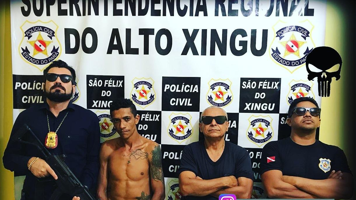 Foto de Dois assaltantes foram presos pela equipe Caveira da PC em São Félix do Xingu