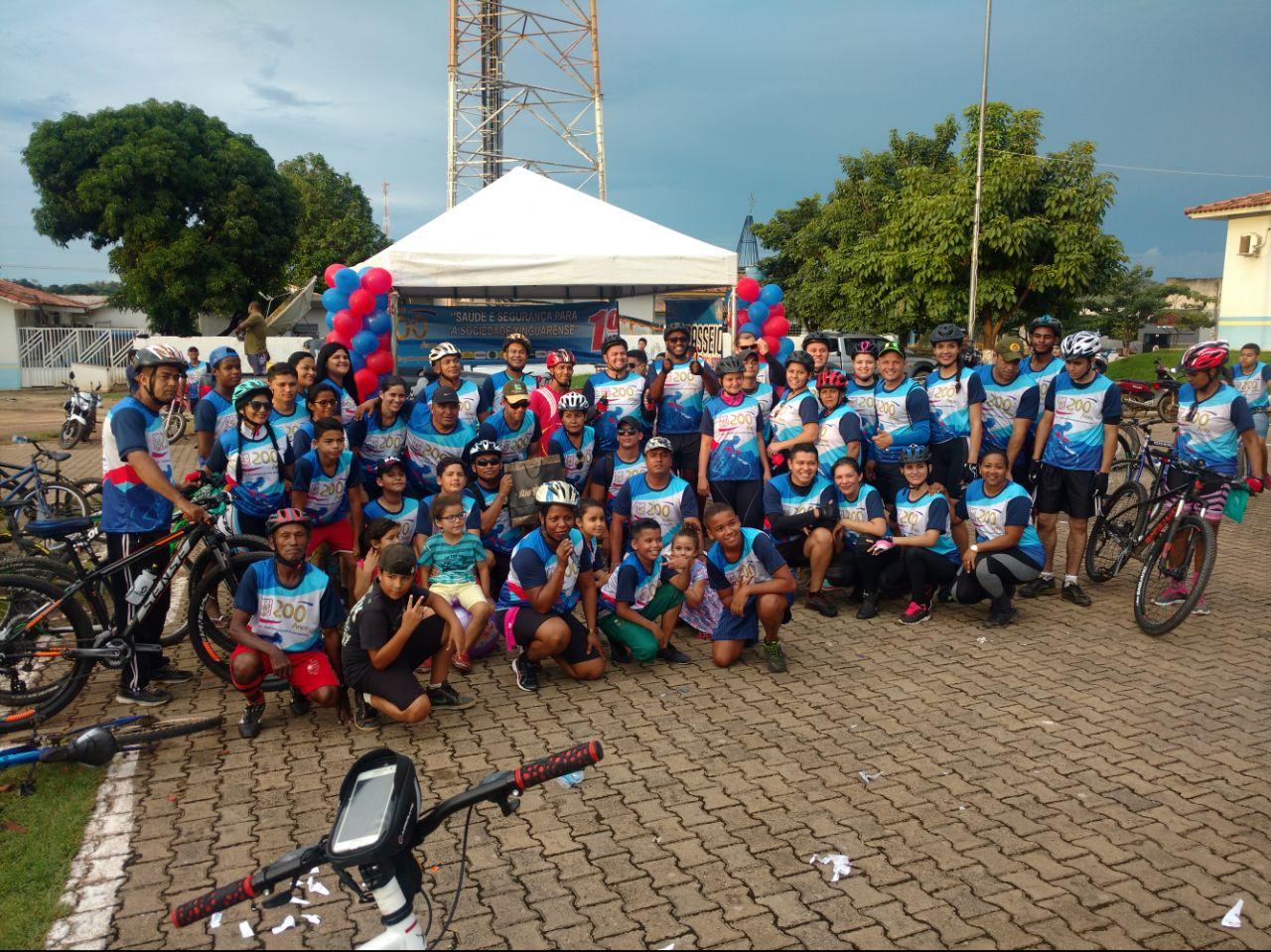 Foto de PM de Xinguara realiza passeio ciclístico para comemorar os 200 anos da corporação e o 24º aniversário do 17º BPM
