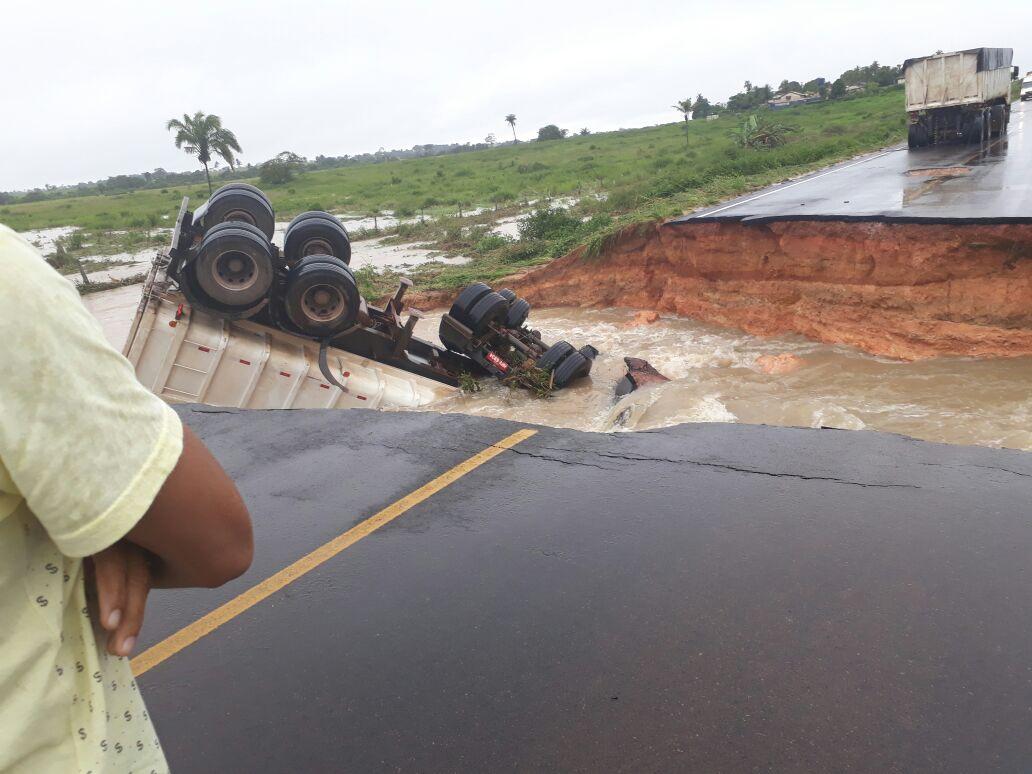 Foto de Fortes chuvas castiga o sul do Pará e BR 155 sofre rompimento em vários trechos