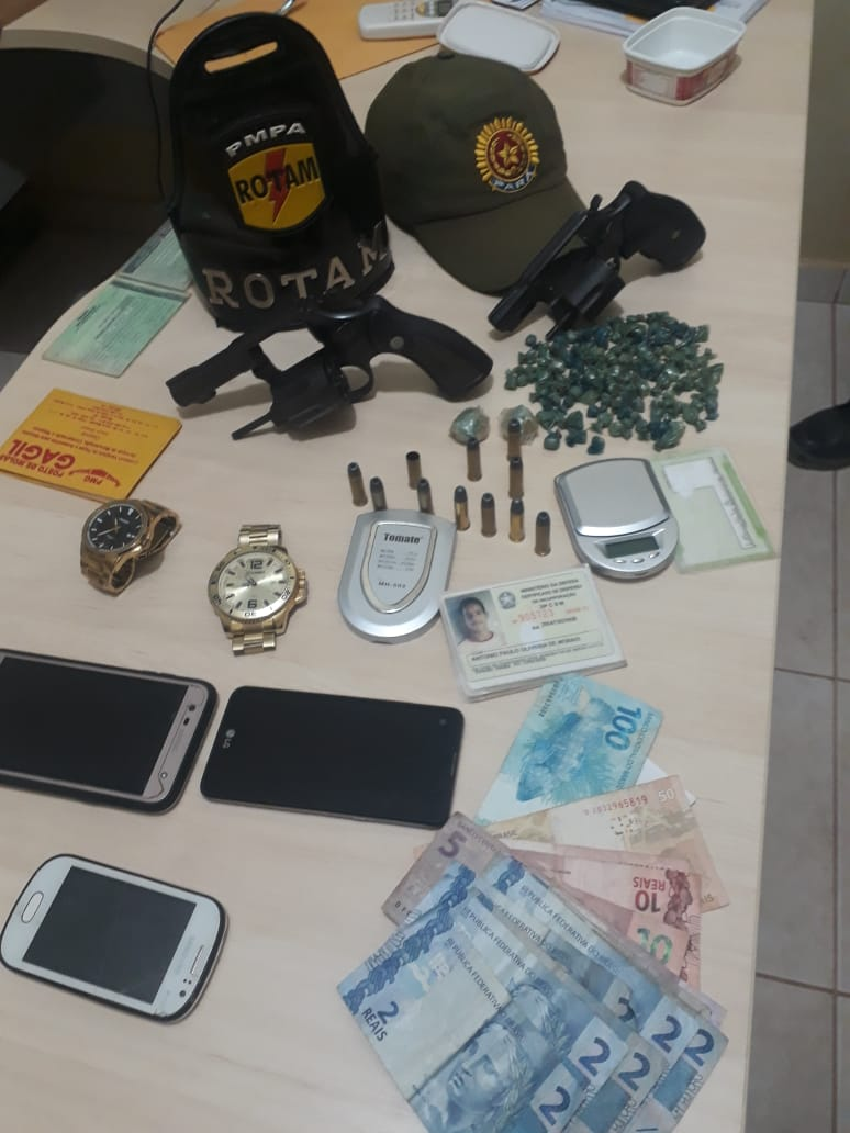 Foto de Cinco homens foram presos em Anapu pela PM acusados de tráfico de drogas