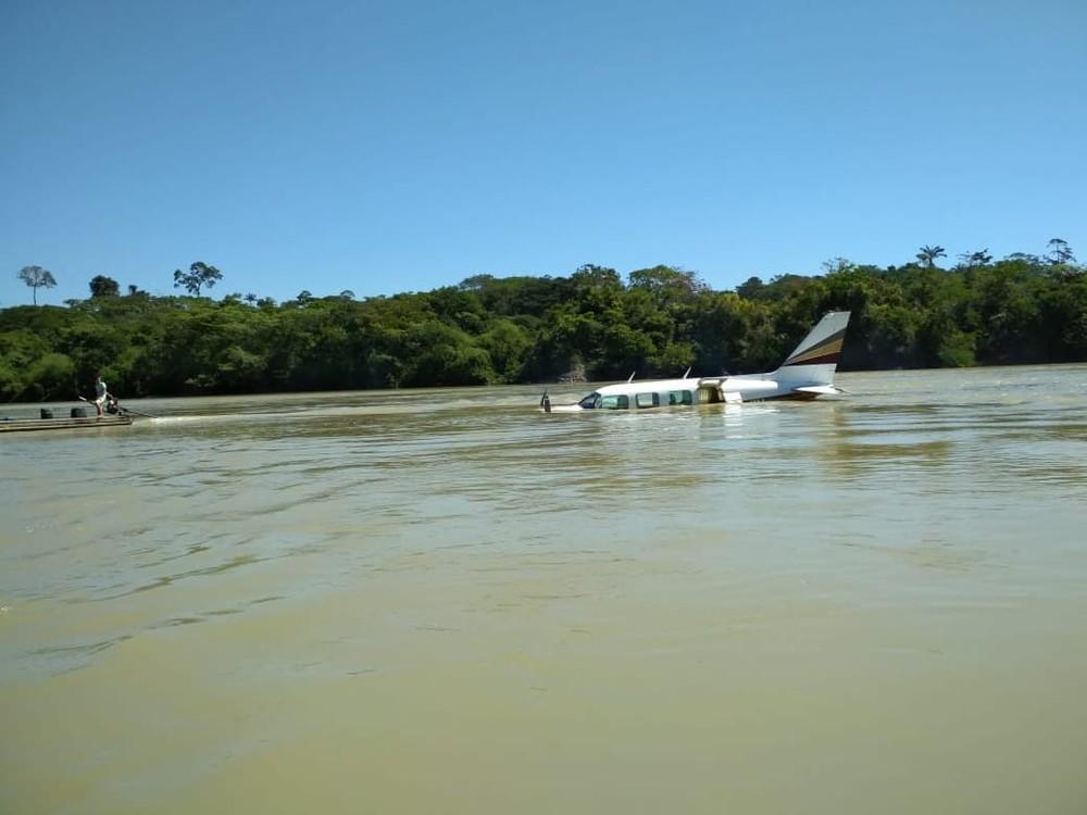 Foto de Polícia faz buscas por passageiros que teriam sido assassinados durante voo em Itaituba, sudoeste do Pará