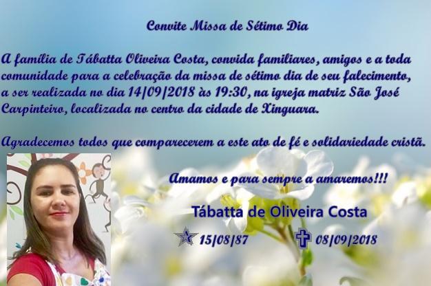 Foto de Convite para Missa de Sétimo Dia
