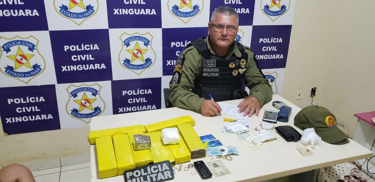 Foto de Mulher é presa dentro de Van na BR 155, próximo a cidade de Xinguara com mais de 5 quilos de drogas