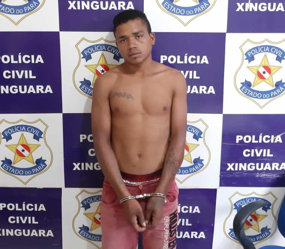 Foto de Jovem de 18 anos foi preso no Distrito Rio Vermelho em Xinguara, com moto roubada