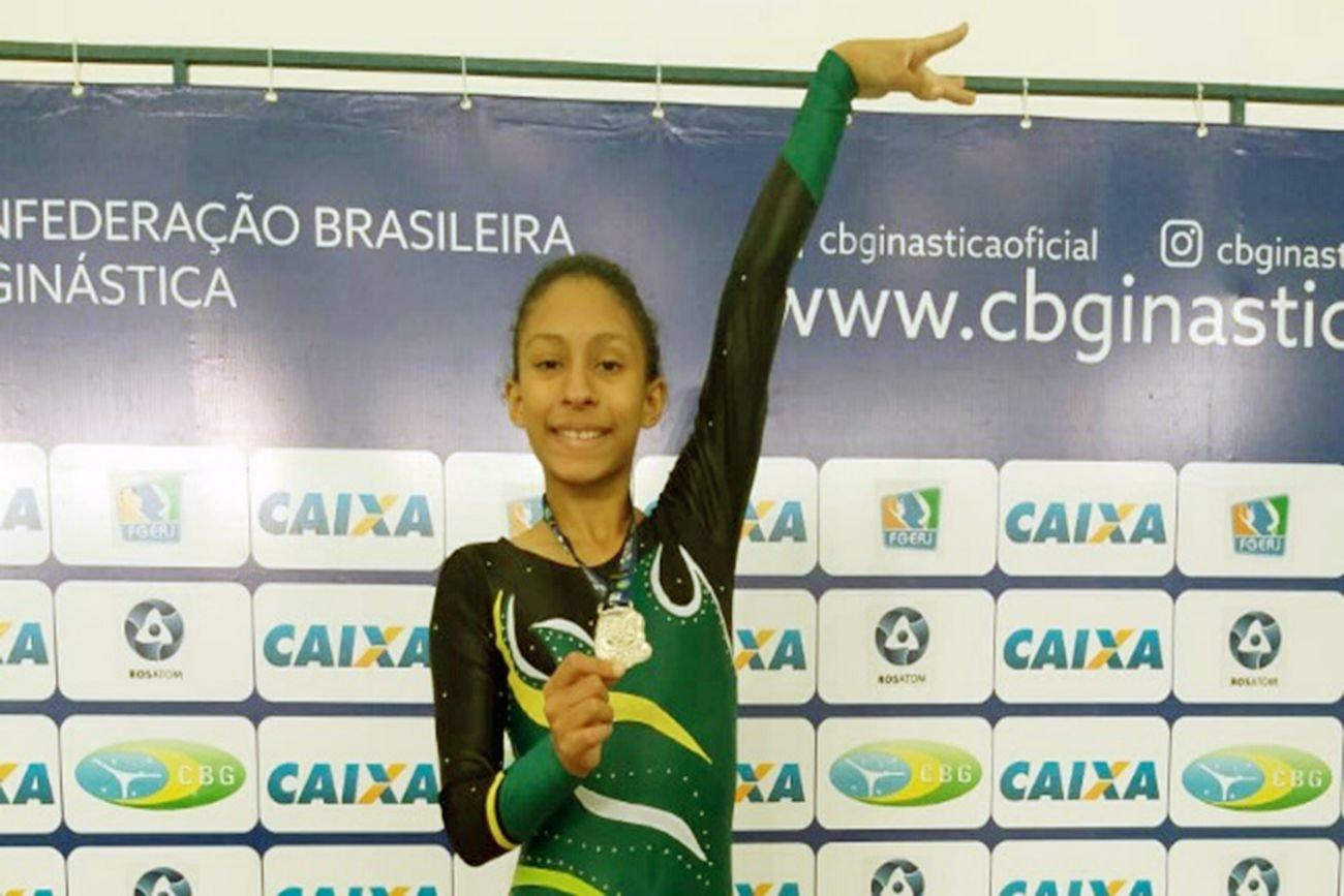 Foto de Ginasta paraense é vice-campeã em torneio nacional no Rio de Janeiro