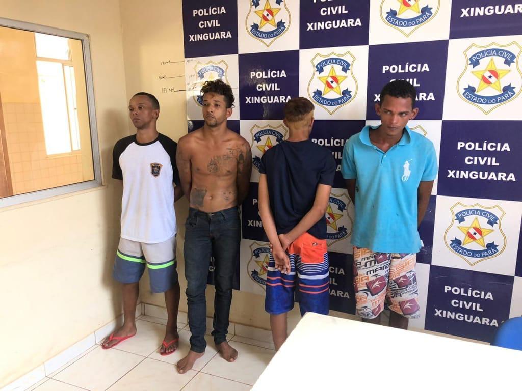 Foto de Quarteto de assaltantes é pego pela Polícia Militar em Xinguara e são reconhecidos por vítimas de assaltos ocorridos na cidade