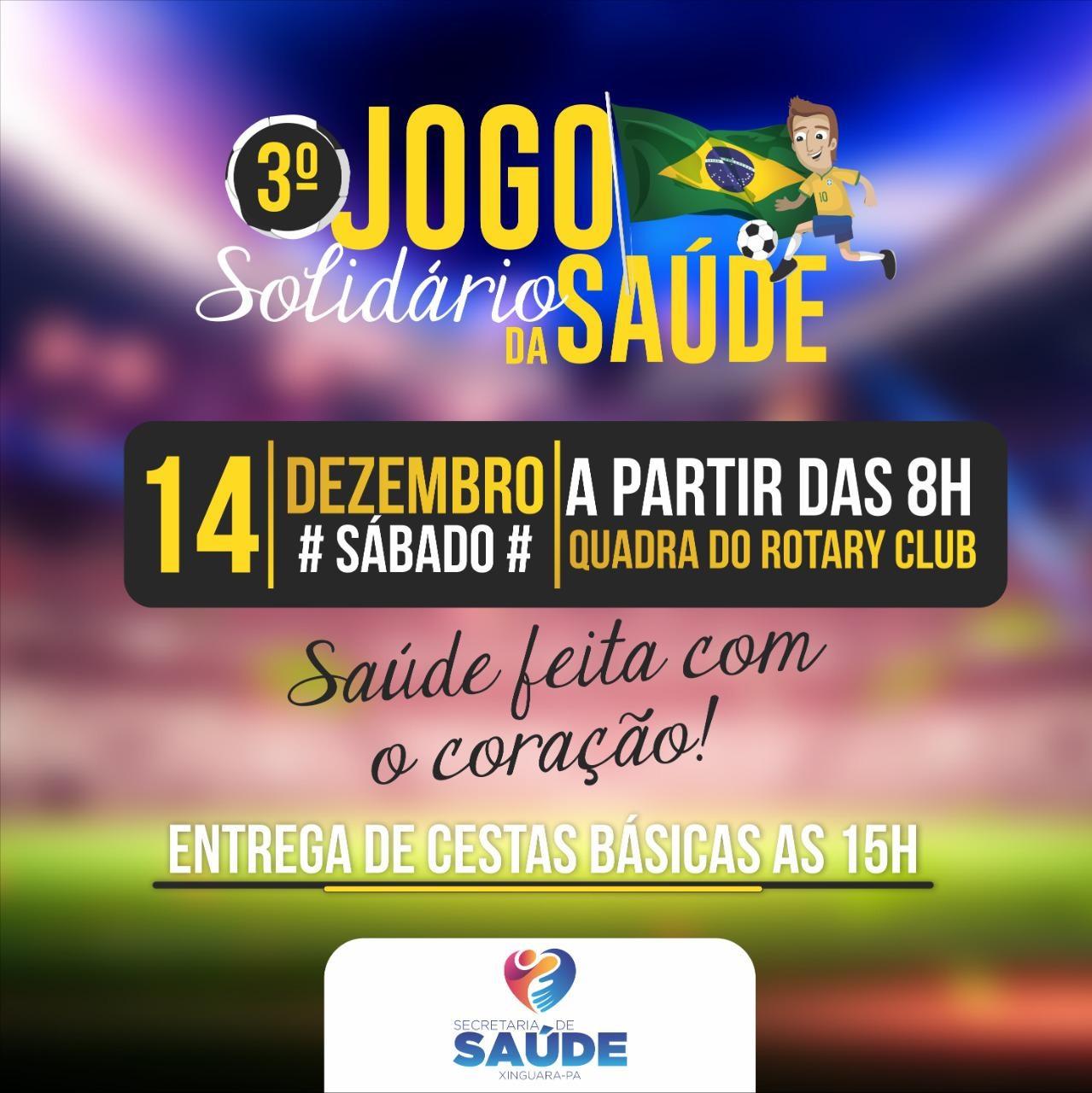Photo of Jogo Solidário da Saúde de Xinguara poderá beneficiar cerca de 500 famílias carentes esse ano