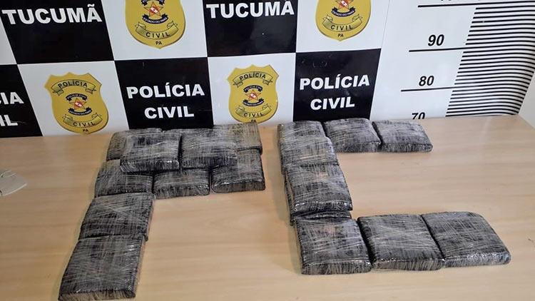 Foto de Polícia Civil de Tucumã prende 'atacadista' de maconha