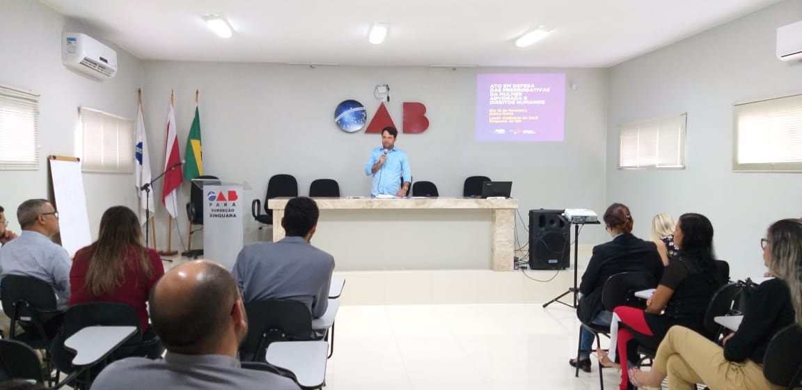 Foto de Revista íntima a advogada leva OAB, Subsessão Xinguara, a realizar ato em defesa das prerrogativas