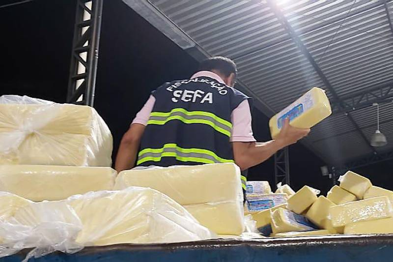 Foto de Sefa apreende quase cinco toneladas de queijo no sudeste do Estado